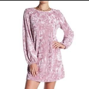 Abound Pink Velvet Dress